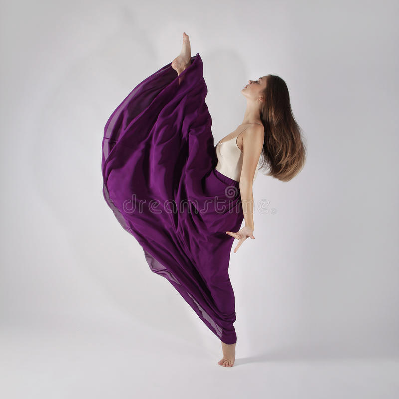 Beautiful gymnast girl royalty free stock photography