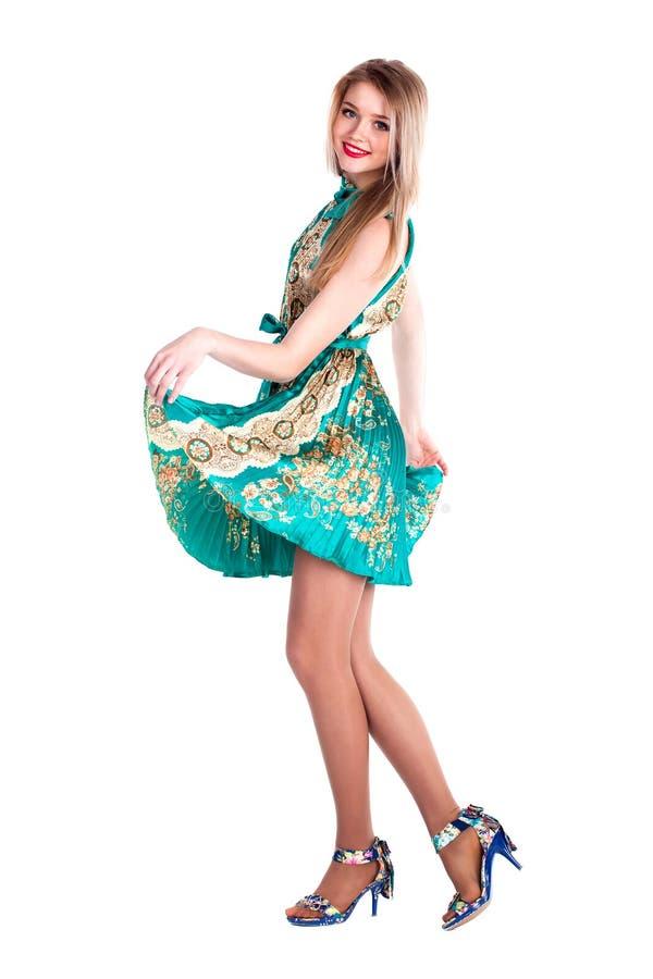 Beautiful woman dance. Studio portrait of a beautiful woman dance stock images