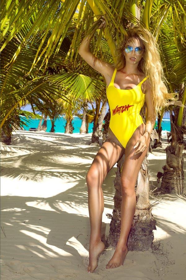 Free Beautiful, Sexy Woman In Bikini Posing On The Caribbean Beach. Lifeguard On The Beach Royalty Free Stock Photography - 148318227
