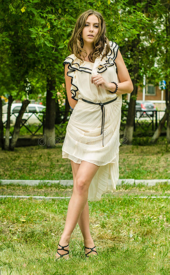 Download Beautiful woman posing stock image. Image of hair, brunette - 25207673