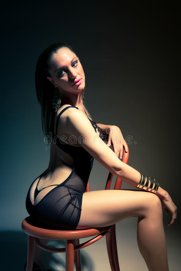 Download Beautiful Woman Sitting On Chair Stock Image - Image: 31871311
