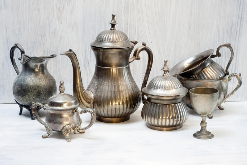 Download Beautiful Shabby Chic Antique Plate Stock Photo - Image of pewter, ceramics: 39502498