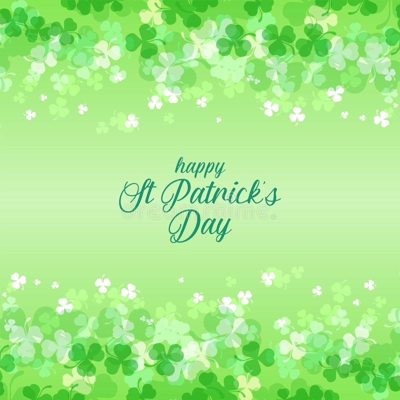 Beautiful shamrock leaf background for st patrick`s day stock photography