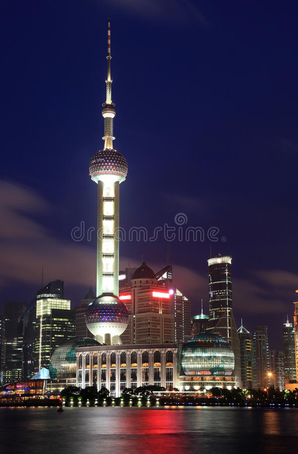Beautiful Shanghai Pudong skyline at night stock images