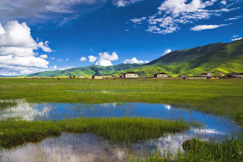Beautiful shangri-la. This is a picture of the beautiful shangri-la stock photos