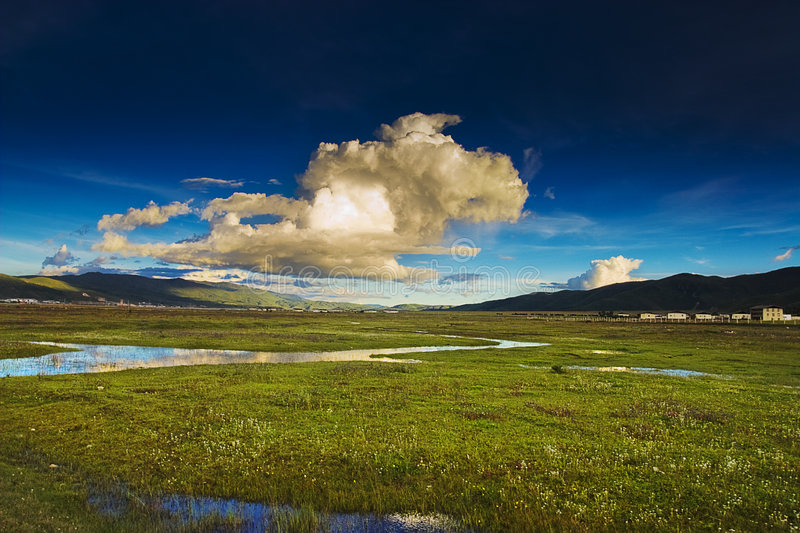 Beautiful shangri-la. This is a picture of the beautiful shangri-la royalty free stock photography