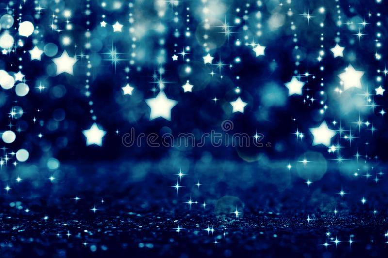 Shiny stars with abstract light background stock illustration