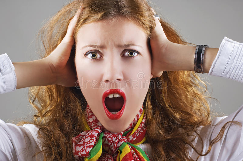 Download Beautiful shocked woman stock photo. Image of excitement - 11949366