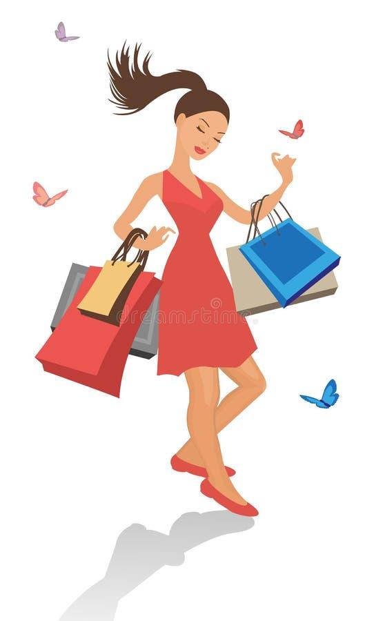 Download Beautiful Shopping Girl Royalty Free Stock Image - Image: 20539256
