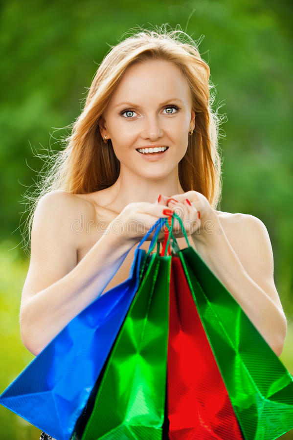 Download Beautiful shopping woman stock photo. Image of attractive - 23285796