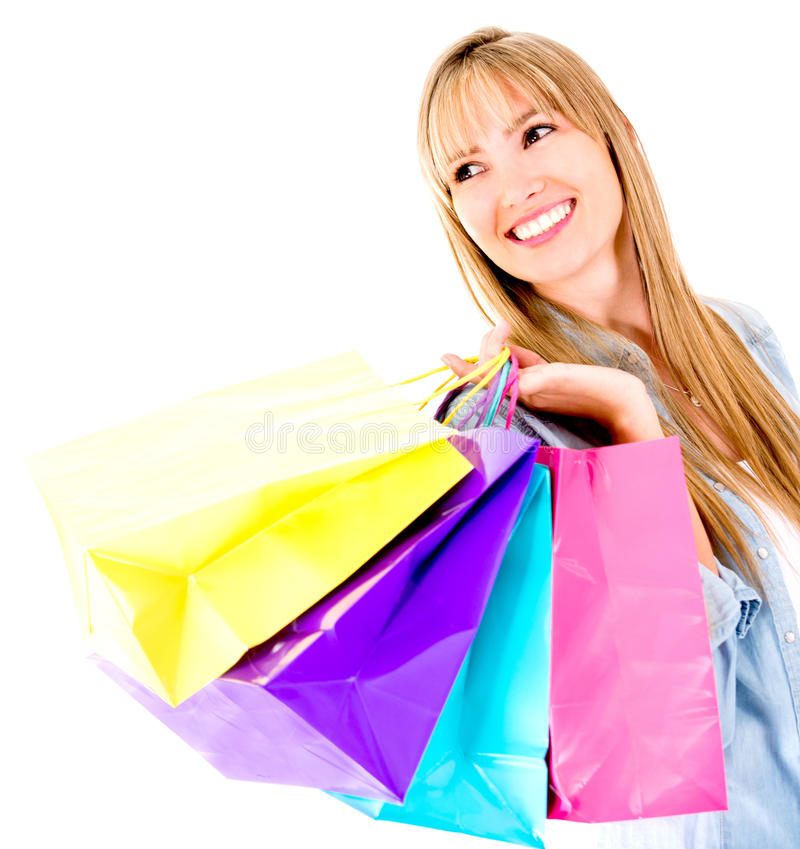 Download Beautiful shopping woman stock image. Image of adult - 25751953