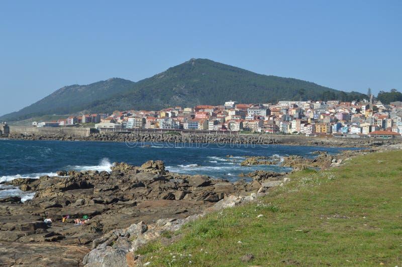 Beautiful Shot Of The Coastal Village Of The Guard. Architecture, History, Travel. August 15, 2014. La Guardia, Pontevedra,. Galicia, Spain royalty free stock photos