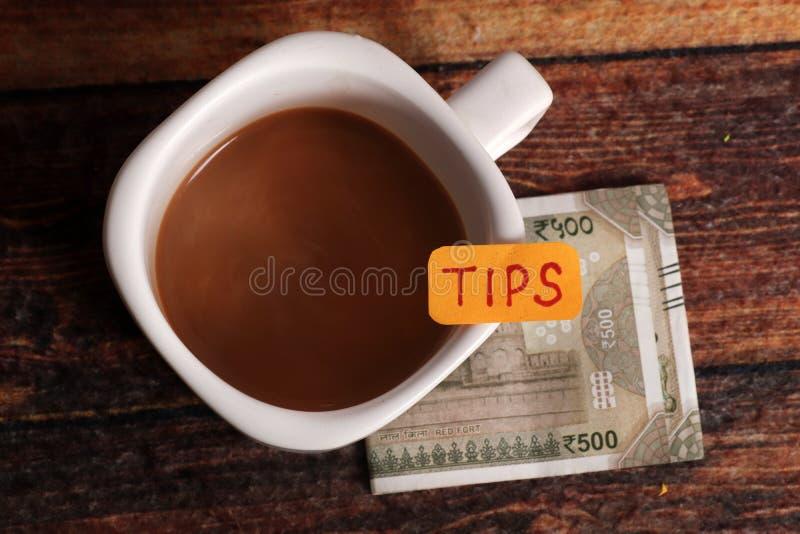 Money tip royalty free stock image