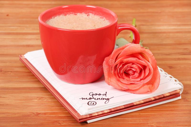 Good morning coffee royalty free stock image