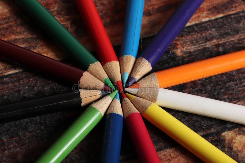Pencil colours royalty free stock images