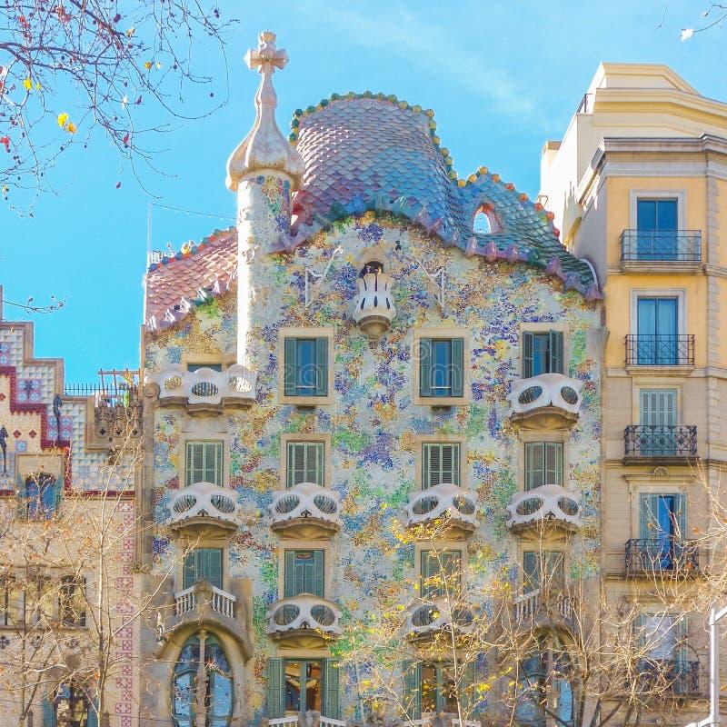 Beautiful shot of the famous Casa Batllo in Barcelona, Spain. A beautiful shot of the famous Casa Batllo in Barcelona, Spain stock images