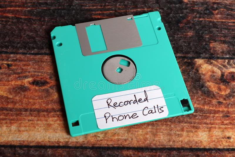 Recorded phone calls stock photo