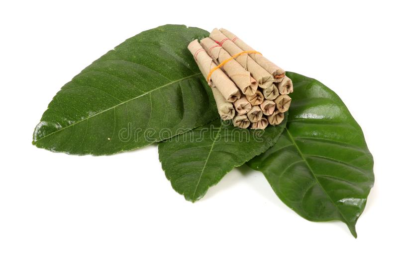 Hand-made tobacco cigarettes. Beautiful shot of hand-made tobacco cigarettes stock photos