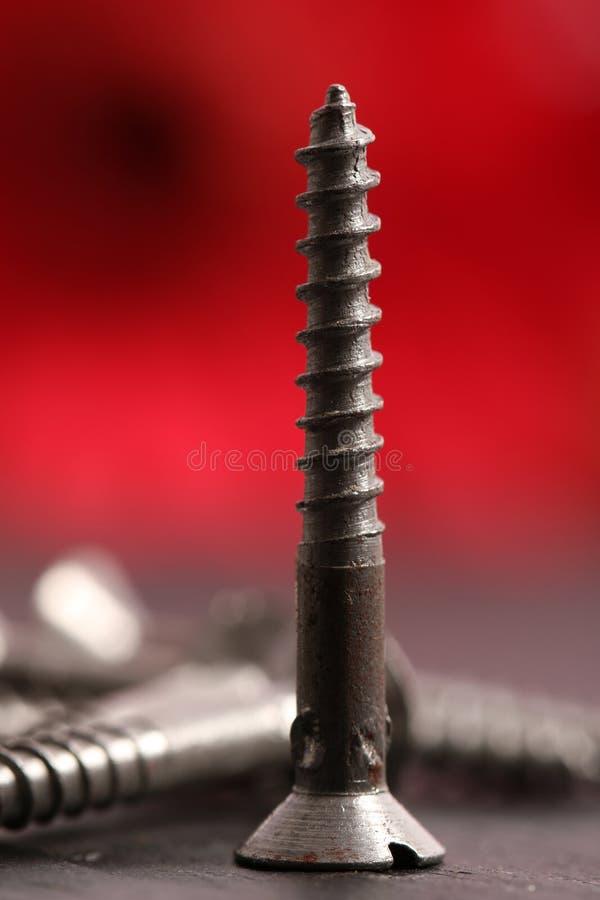 Metal screws stock images