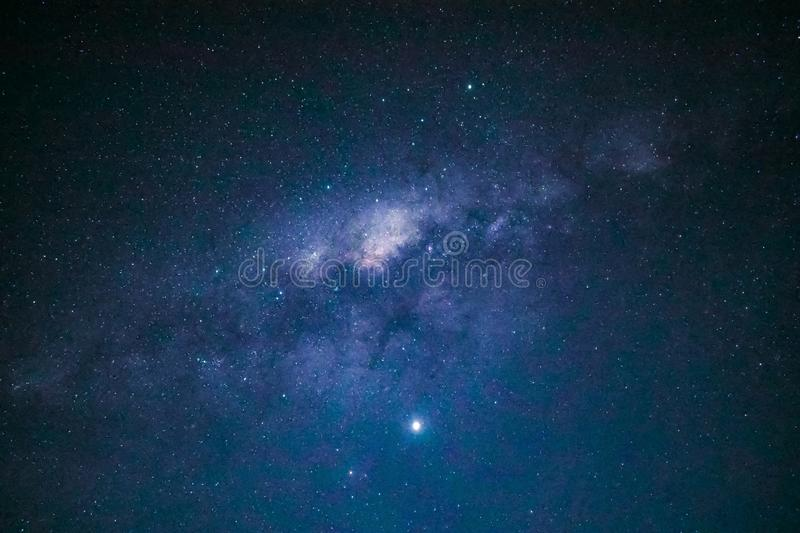 Beautiful shot of the milky way constellation full of bright stars royalty free stock image