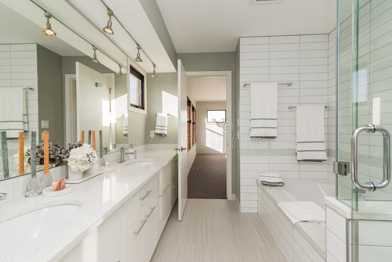 Beautiful shot of a modern house bathroom royalty free stock photography