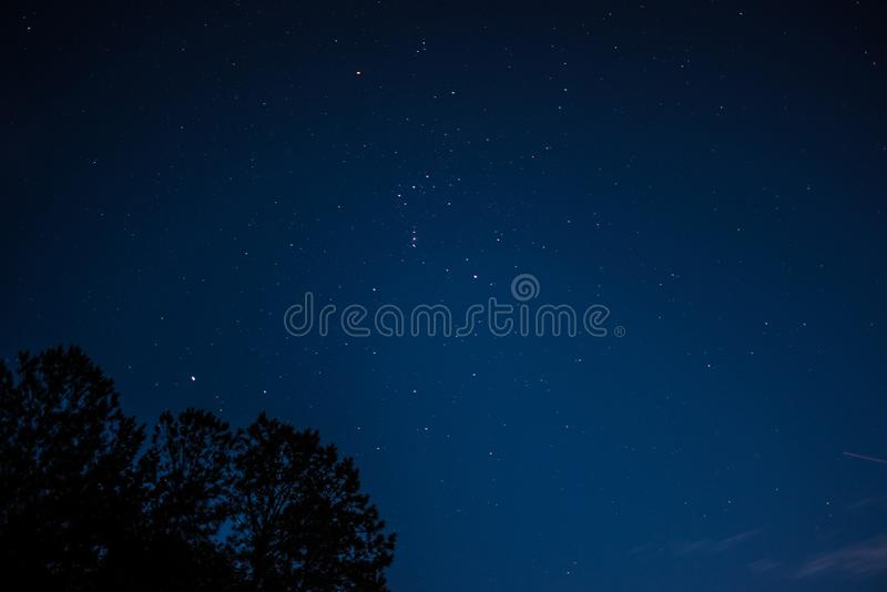 Beautiful shot of a night sky with many amazing shining visible stars royalty free stock images