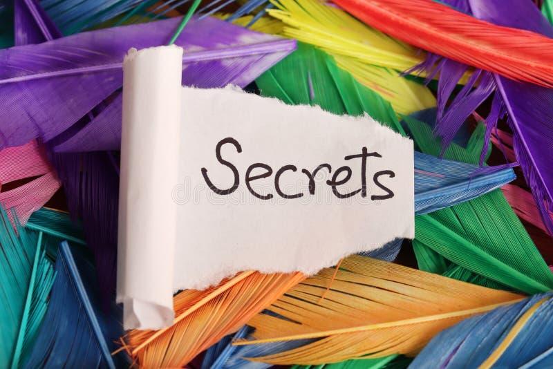 Keeping secrets stock photo