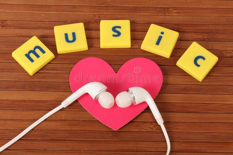 Music love. Beautiful shot showing love for music royalty free stock photo