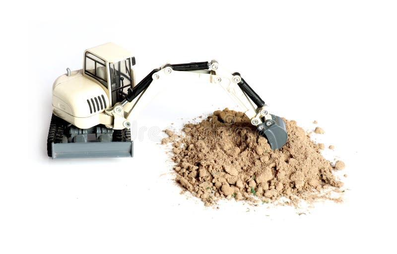 Soil digging royalty free stock photo