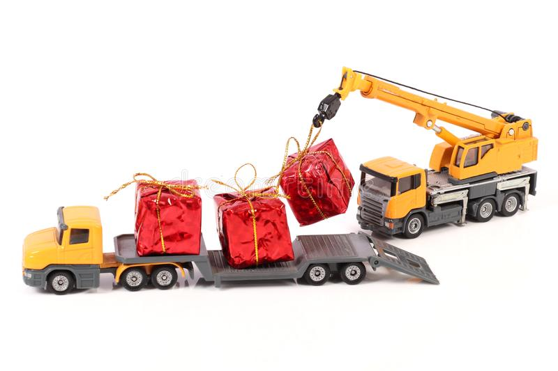 Gifts delivery stock images
