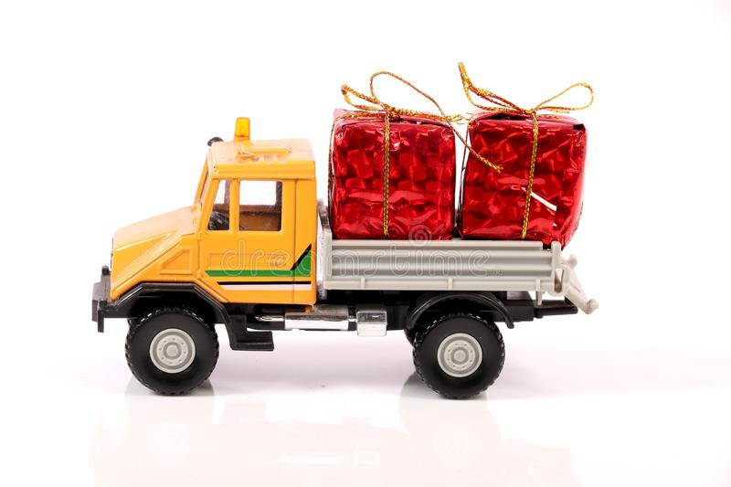 Gifts delivery royalty free stock images