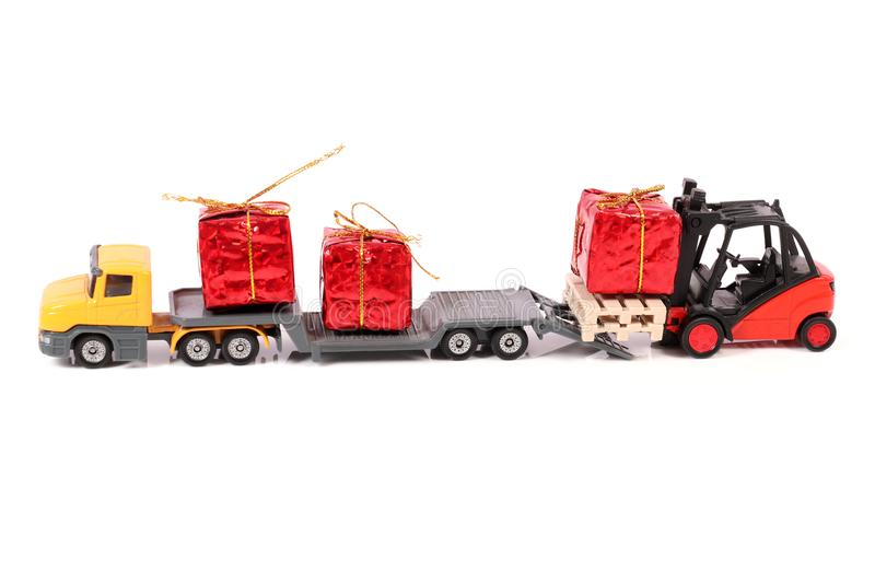 Gifts delivery royalty free stock photo
