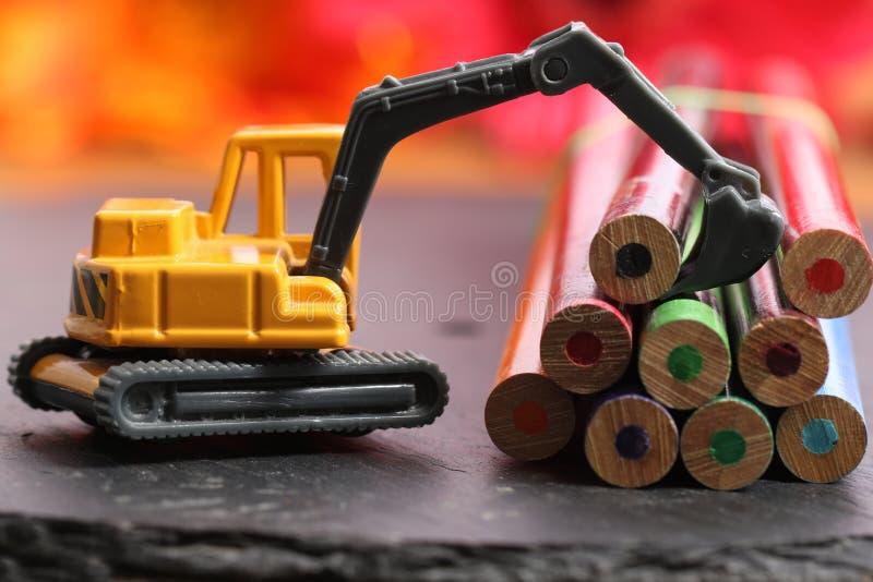 Wood loader machine royalty free stock image