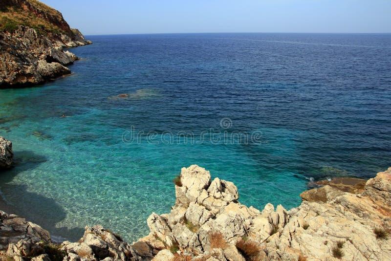 Beautiful Sicilian coastline royalty free stock photography