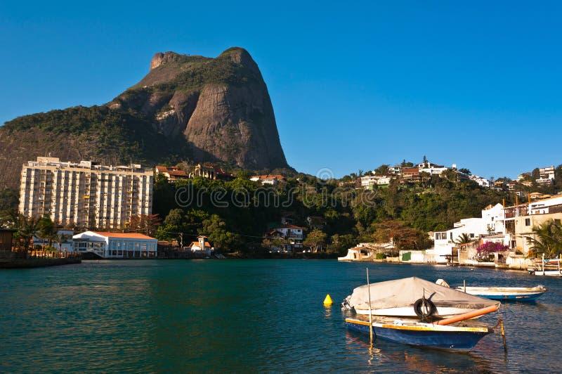 Beautiful Sight of Rio de Janeiro Natural Landscape stock image