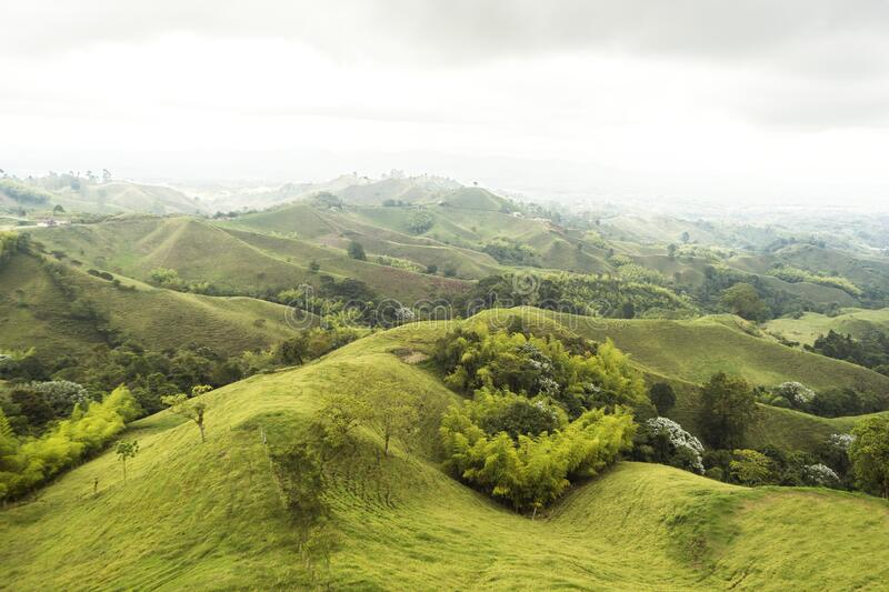 Beautiful Sights of Lookout of Filandia in Quindio, Colombia. Beautiful and Green Sights of Lookout of Filandia in Quindio, Colombia stock images