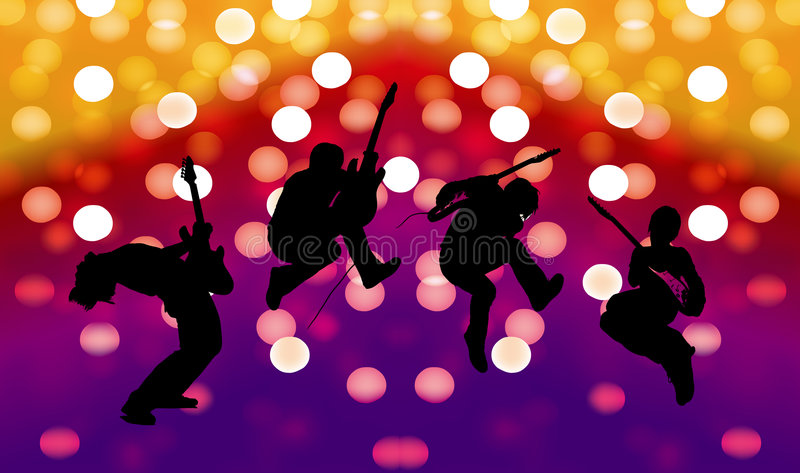 Download Beautiful silhouette stock vector. Illustration of dance - 9029818