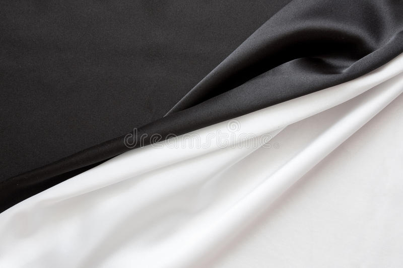 The beautiful silky brilliant black and white royalty free stock photography