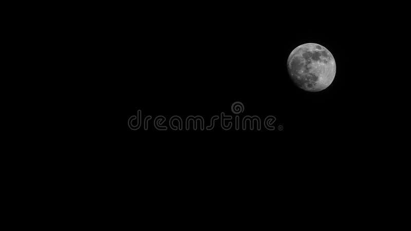 Moon on the dark night sky royalty free stock photos