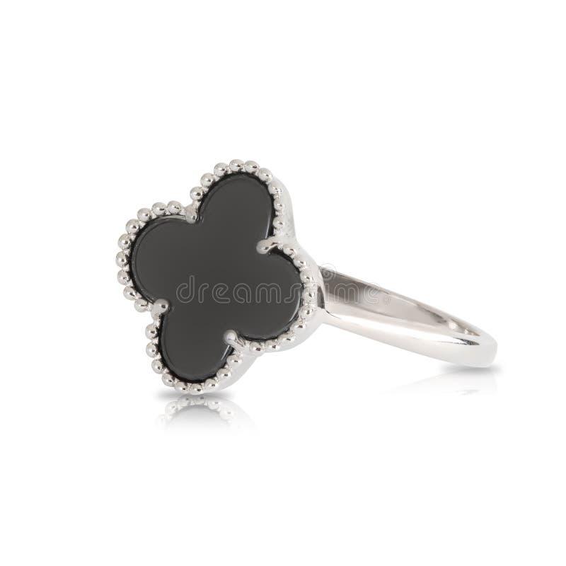 Beautiful silver ring royalty free stock image