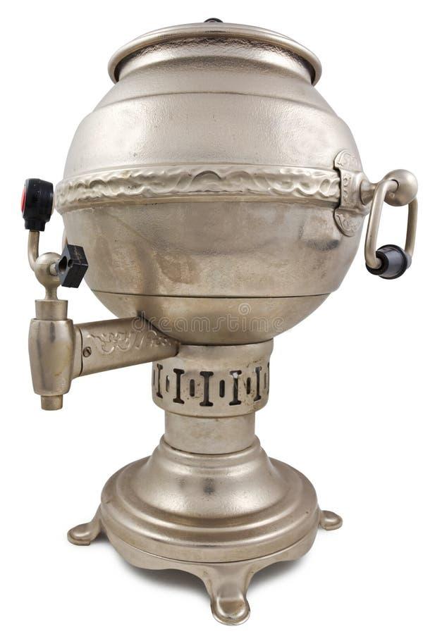 Beautiful silver teapot stock photography