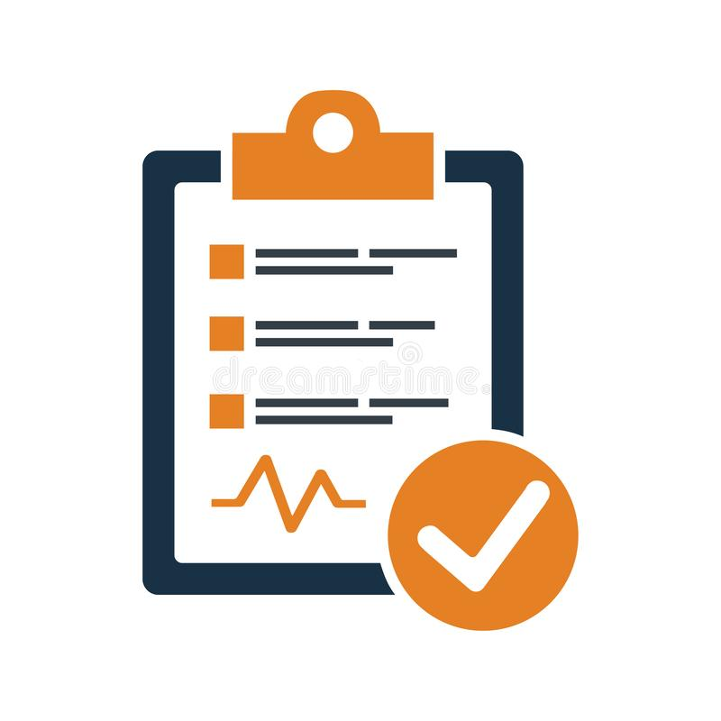 Diagnostic Report Icon stock illustration