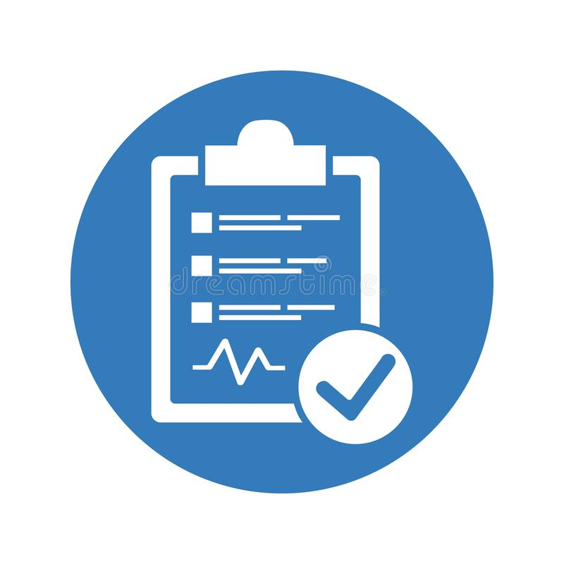 Diagnostic Report Icon royalty free illustration