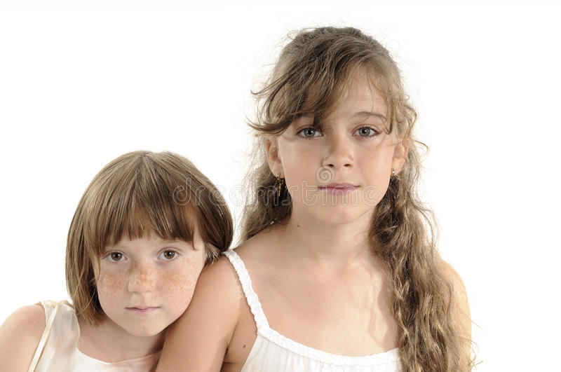 Beautiful Sisters Expressing Friendship Stock Photos