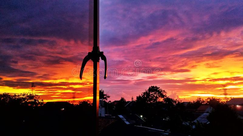 Beautiful skies in the afternoon royalty free stock photos
