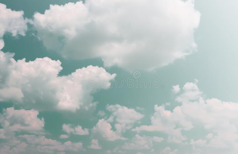 Beautiful skies and clouds on a bright day stock image