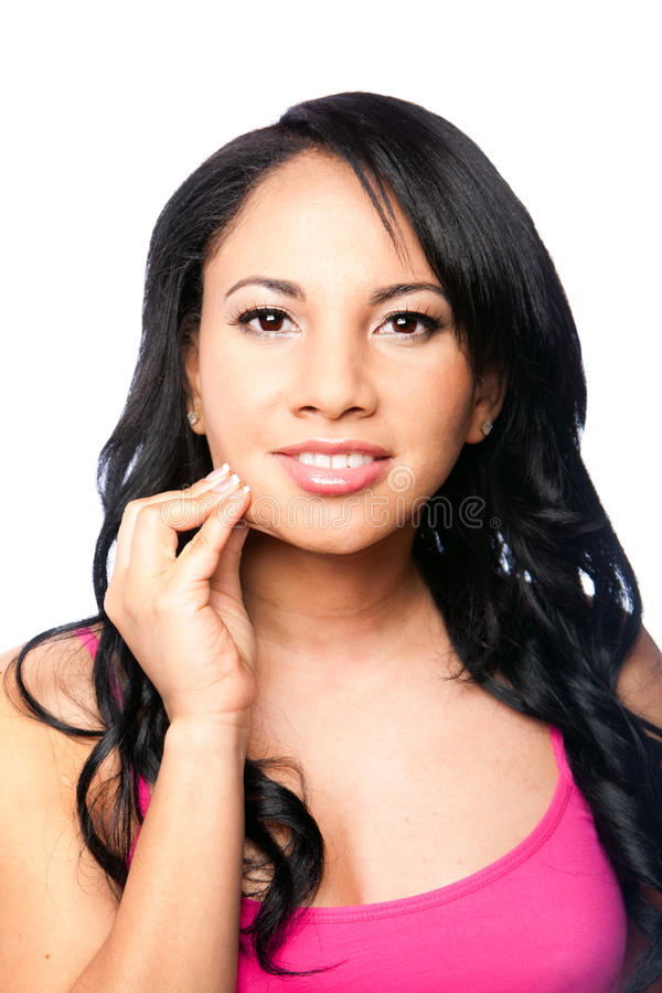 Beautiful skin - woman face stock images