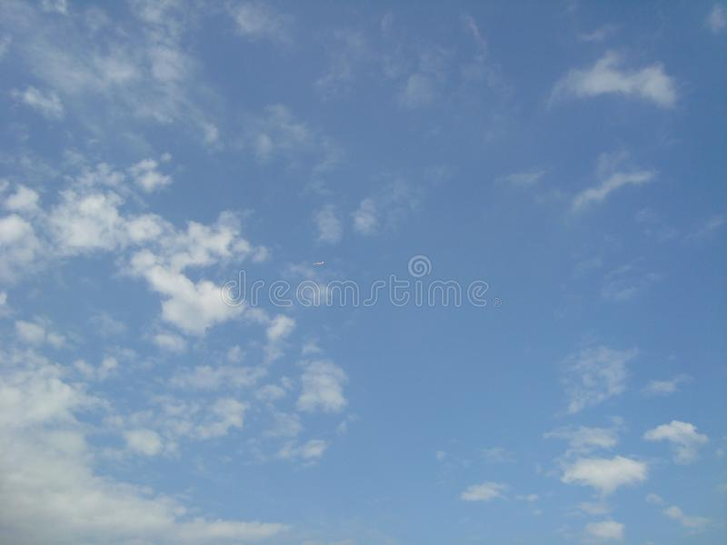 Beautiful sky Blue sky Fluffy white clouds royalty free stock images