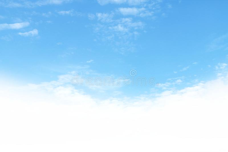 Sky Beautiful Blue, Sky for Background, Sky White, Sky and Cloud Background stock image