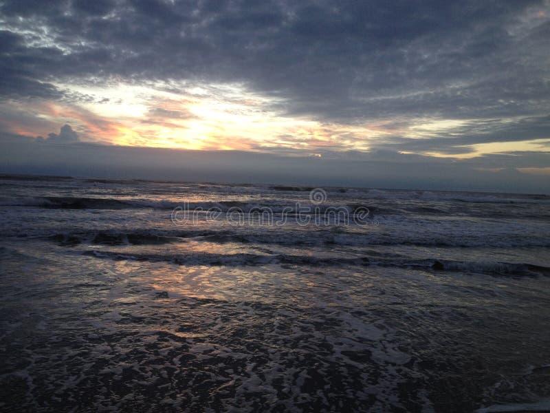 Beautiful sky in a Brazilian beach royalty free stock photo